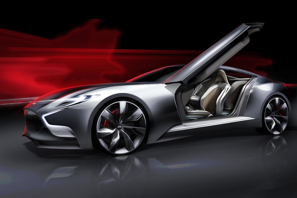 Hyundai's HND-9 high-performance sports coupe concept