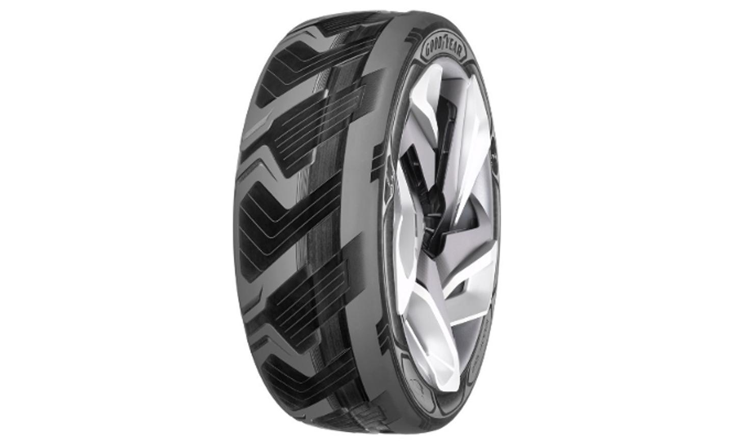 A rendering of the BHO3 concept tire (Image: Goodyear)