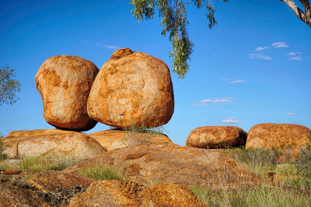 """The """"Devil's Marbles,"""" or Karlu Karlu, about an hour south of Australia's Tennant Creek, where an innovative solar-to-hydrogen project is about to begin testing"""