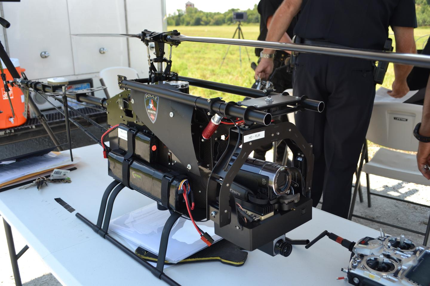 Two Leptron Avenger UAVs will be used by the Arlington PD from April 2013
