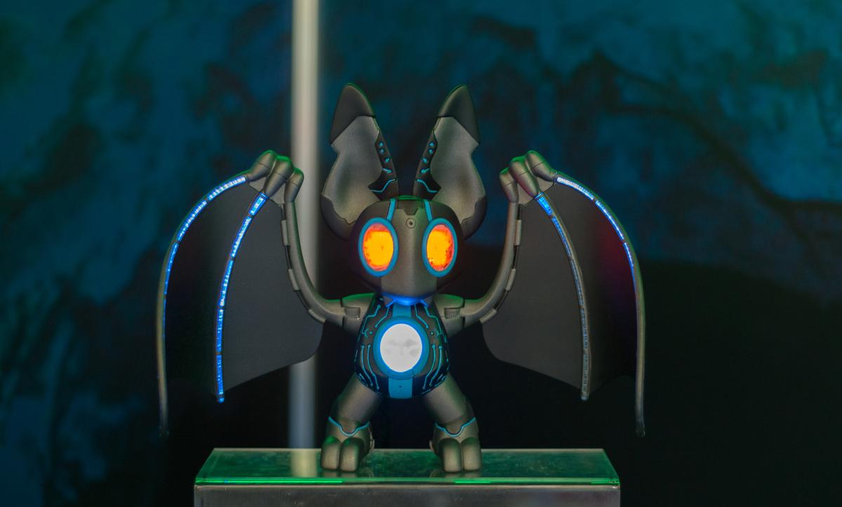 Nocto is an interactive robot pet bat which has 50 interactive features