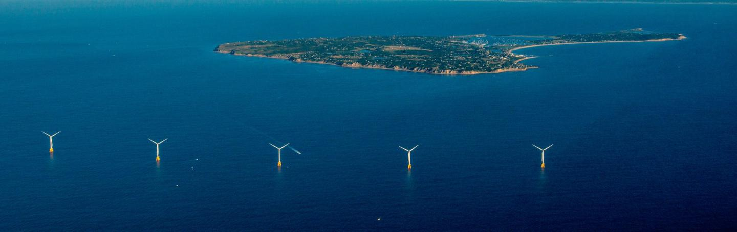 "Block Island Wind Farm comprises five 6-MW ""Haliade"" turbines supplied by General Electric Renewable Energy"