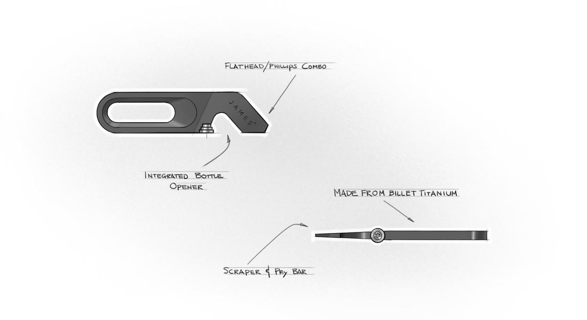 Sketches of the Halifax multitool by The James Brand