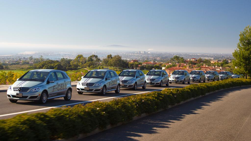 The Mercedes-Benz B-Class F-CELL hydrogen fuel cell vehicle