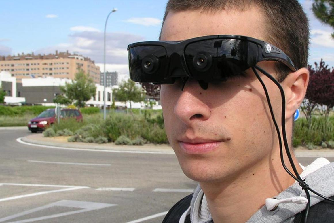 """The """"intelligent"""" goggles use computer algorithms to help the partly-sighted navigate"""