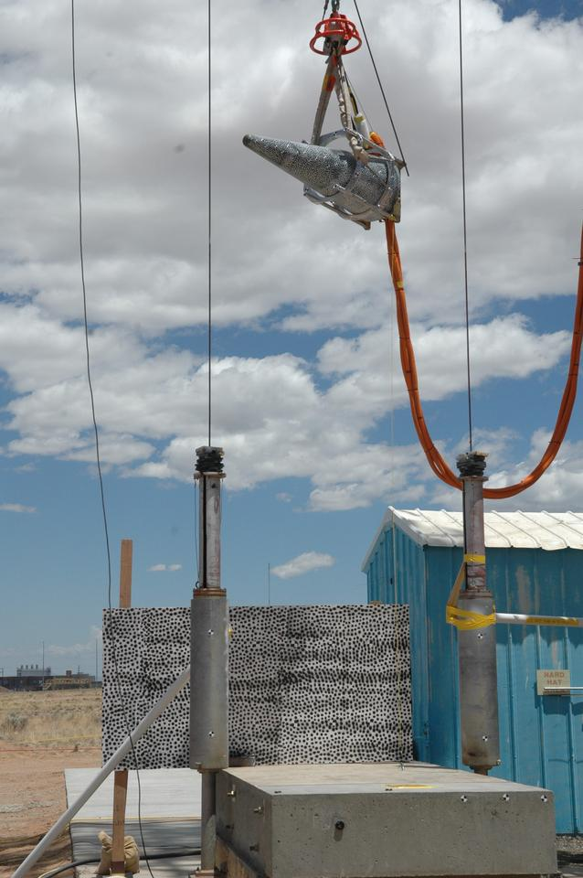 W88 warhead undergoing drop test