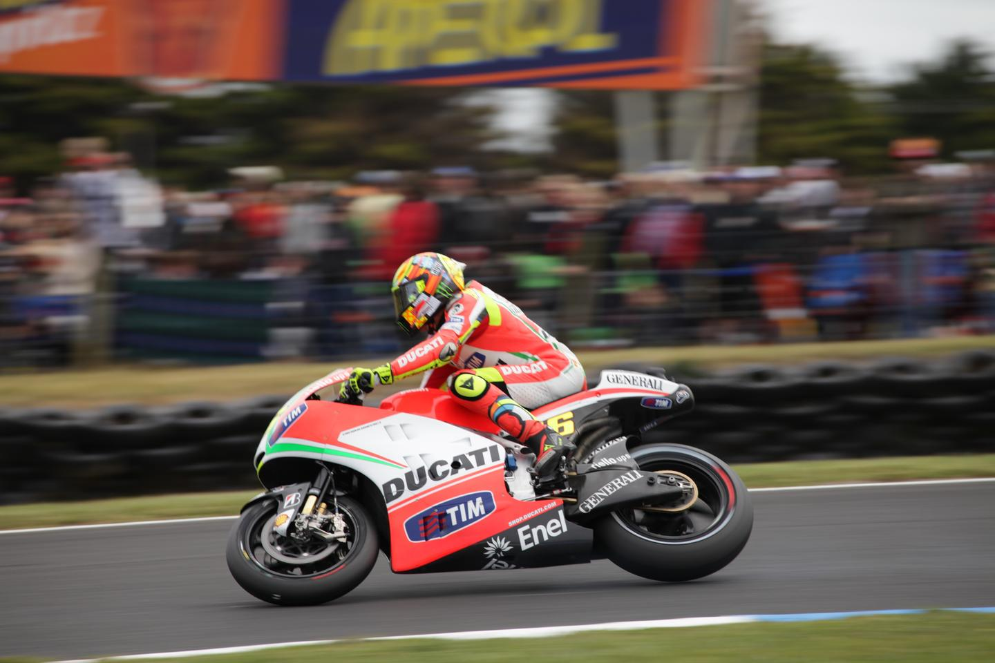 Valentino Rossi at the Australian round of the 2012 MotoGP