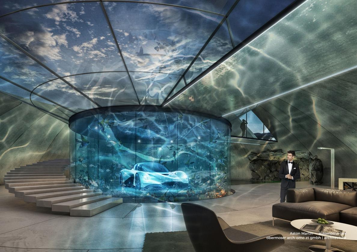 """The company calls its new service """"Aston Martin Automotive Galleries and Lairs"""""""