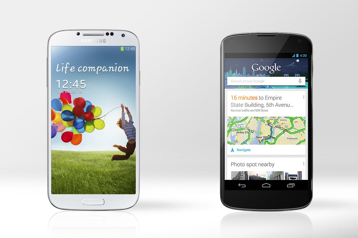 Gizmag compares the specs and features of the Samsung Galaxy S4 and LG Nexus 4