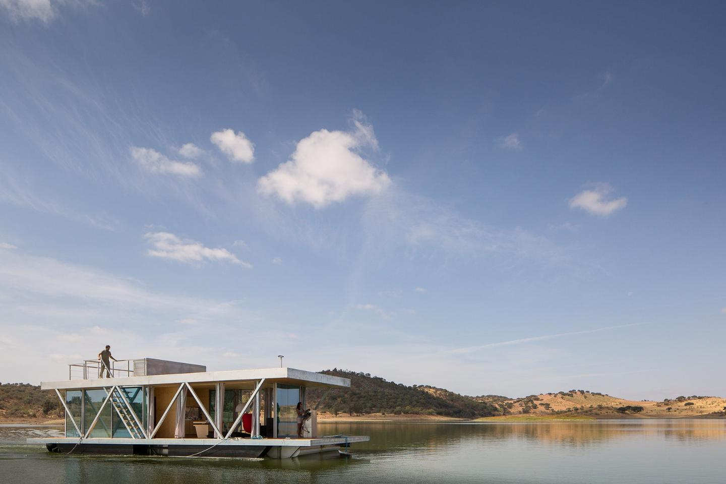 The Floatwing is a motorized floating home