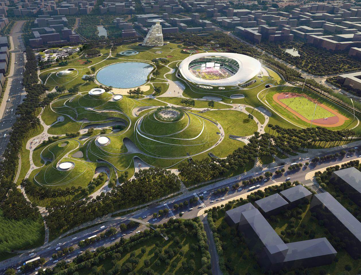The first phase of Quzhou Sports Park is expected to be completed in 2021
