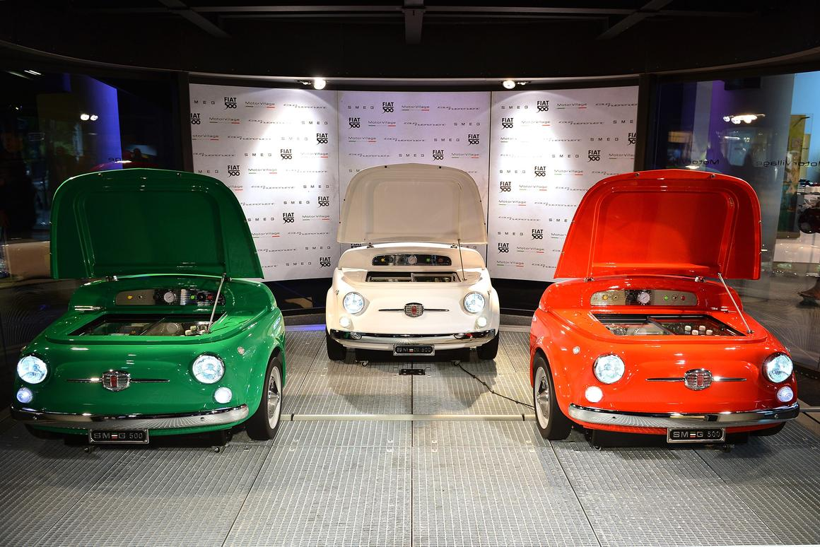 Unveiled in Paris, the SMEG 500 is collaborative tribute to the design partnership Fiat and SMEG held in the 1950s