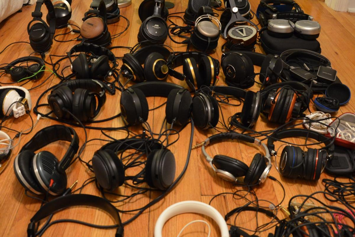 A selection of the headphones successfully tested, which ranged in price from an estimated $2.99 to $15,000