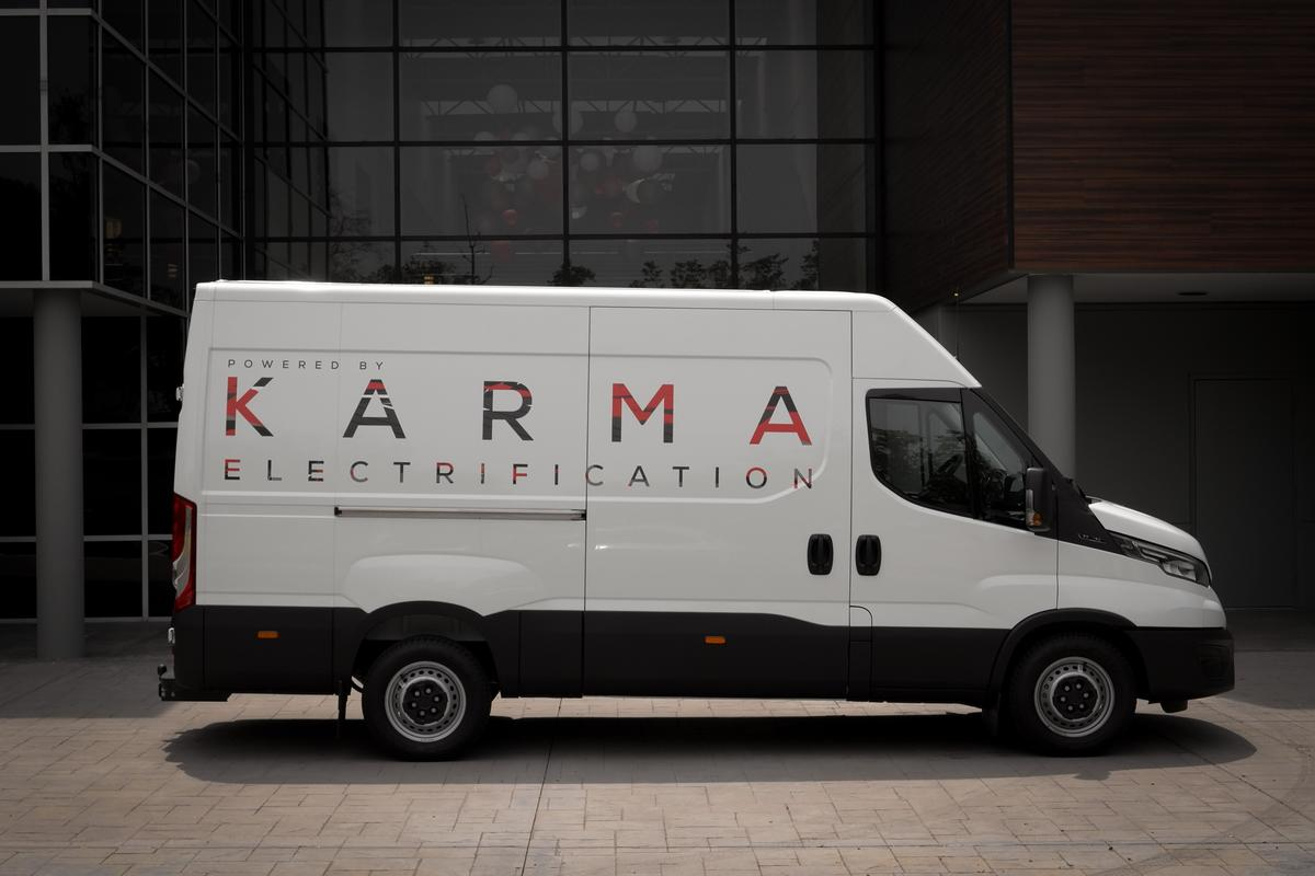 Karma previews its EREV E-Flex electrified van platform