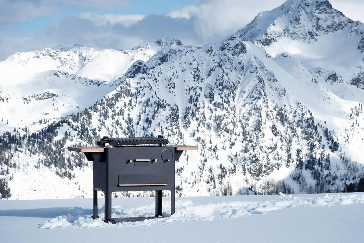 The Vaustil Primero grill, in a scenic spot