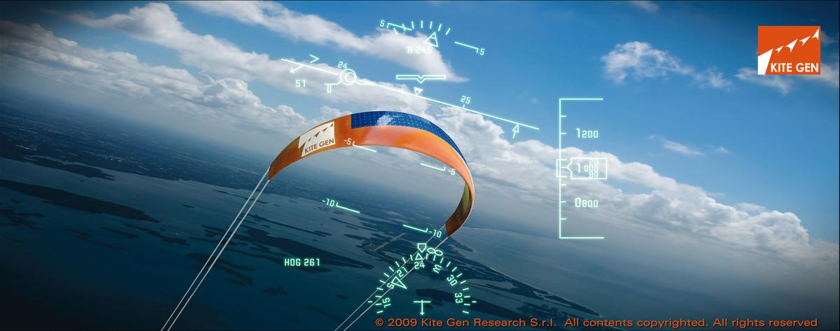 The large kites in the KiteGen system are able to take advantage of high-altitude winds (Image: KiteGen)
