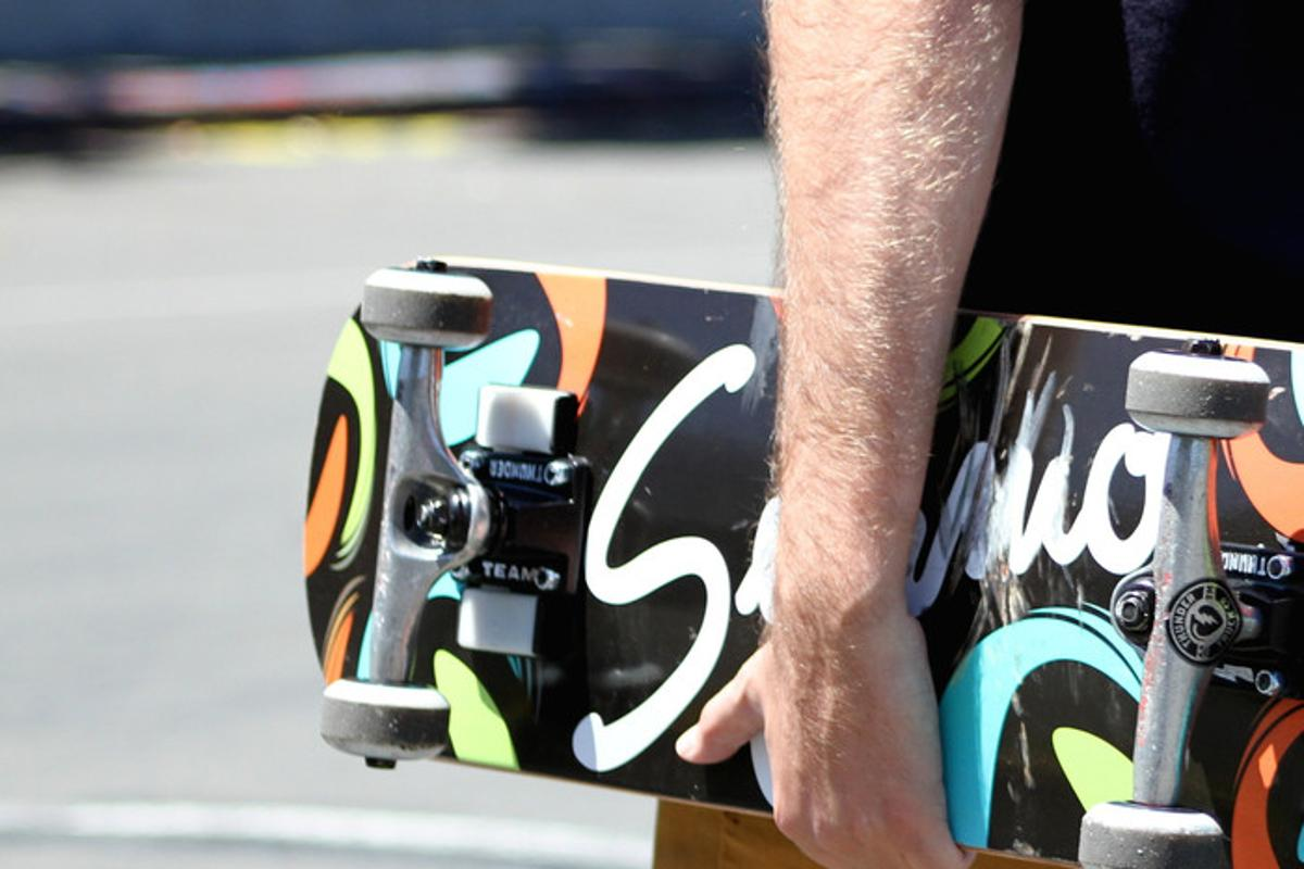 The Syrmo tracker is designed to replace the riser pad under the truck, meaning it can gauge statistics like air and distance without impacting the dynamics of the board