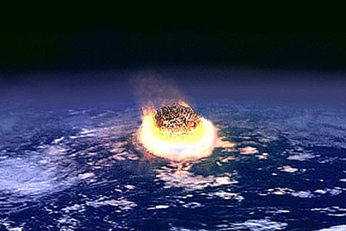 Artist's impression of a large meteor impact
