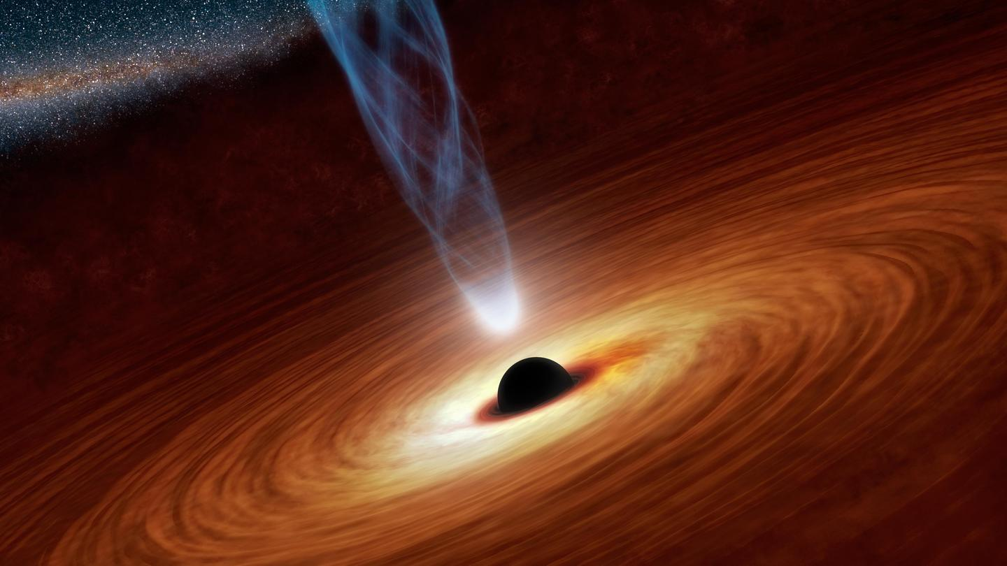 An artist's impression of Sagittarius A*, the supermassive black hole at the center of the Milky Way