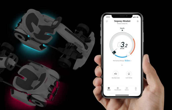 The Ninebot Electric Gokart comes with a smartphone app for tracking things like speed and range
