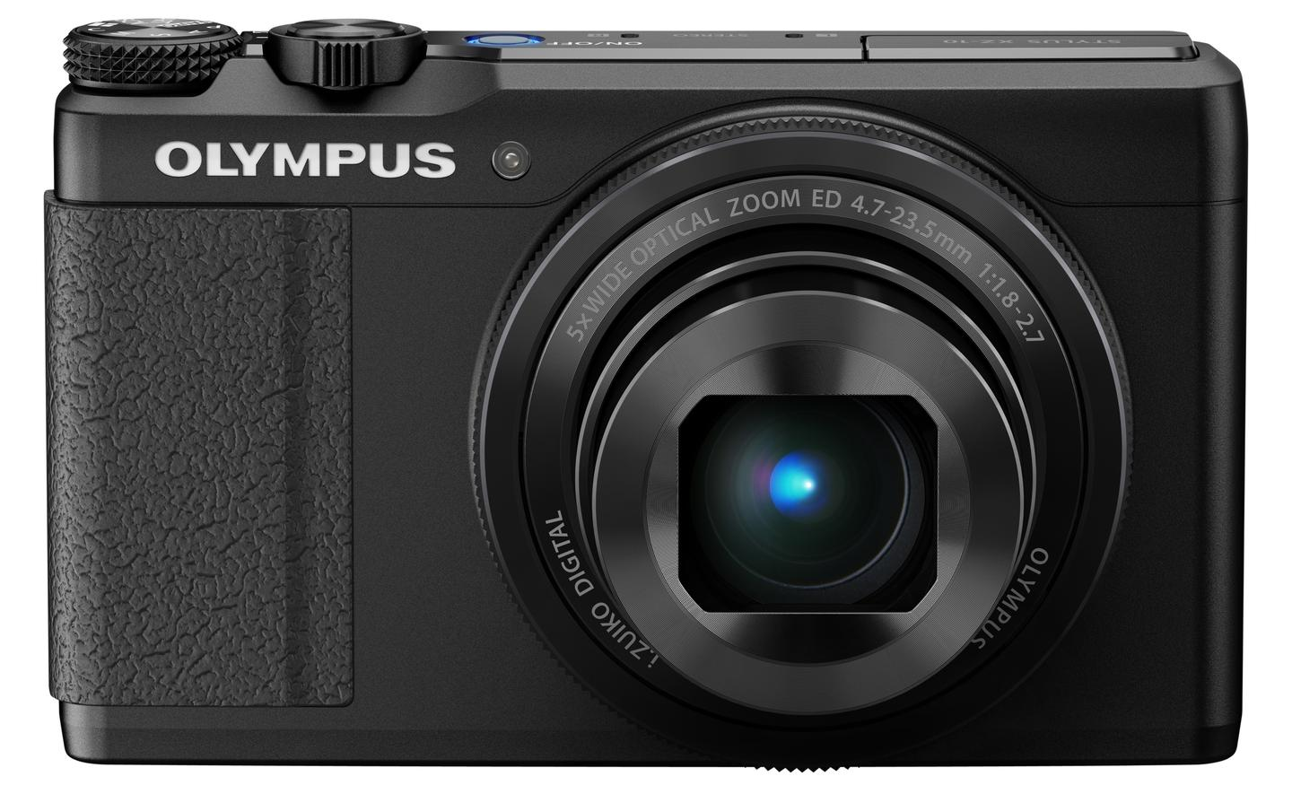 A control ring around the lens of the Olympus XZ-10 can be used to adjust settings such as aperture and shutter speed