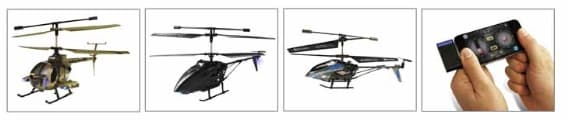 Swann i-Fly Micro Lightening, Sky Eye and Black Swann RC helicopters