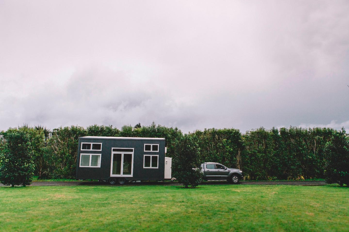 The Millennial Tiny House shown is Build Tiny's prototype model
