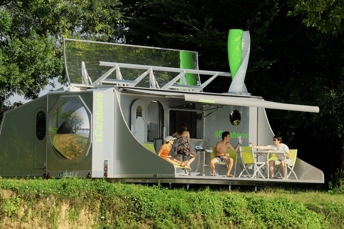 The sCarabane concept offers a look at an innovative, self-sufficient caravan