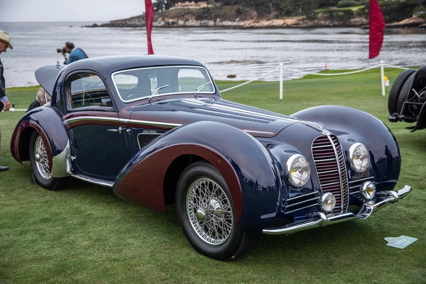 The winner of the J2 Class for European Classic Closed cars was this 1937 Delahaye 145 Chapron Coupe owned by Merle & Peter Mullin of Los Angeles, California