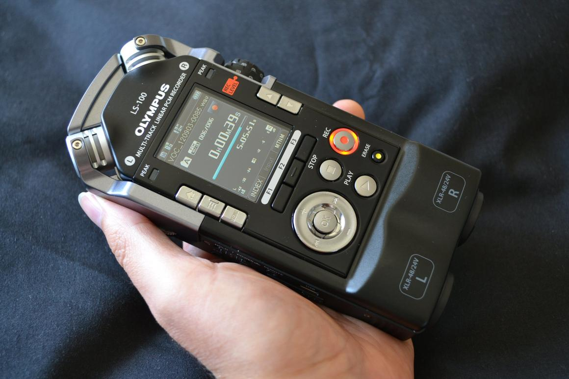 Spending some hands-on time with the Olympus LS-100 Multi-Track Linear PCM recorder