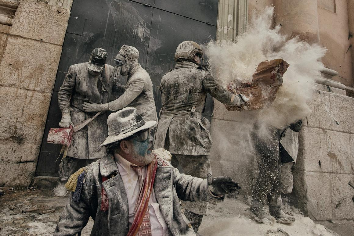 Flour war in Alicante, in Spain. Professional, Discovery (Professional competition), 2nd Place, 2018, Sony World Photography Awards