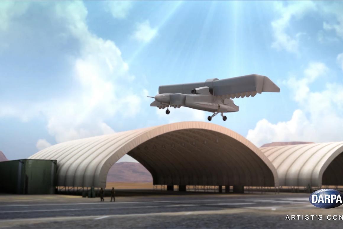 DARPA's sub-scale VTOL X-Plane prototype completes flight