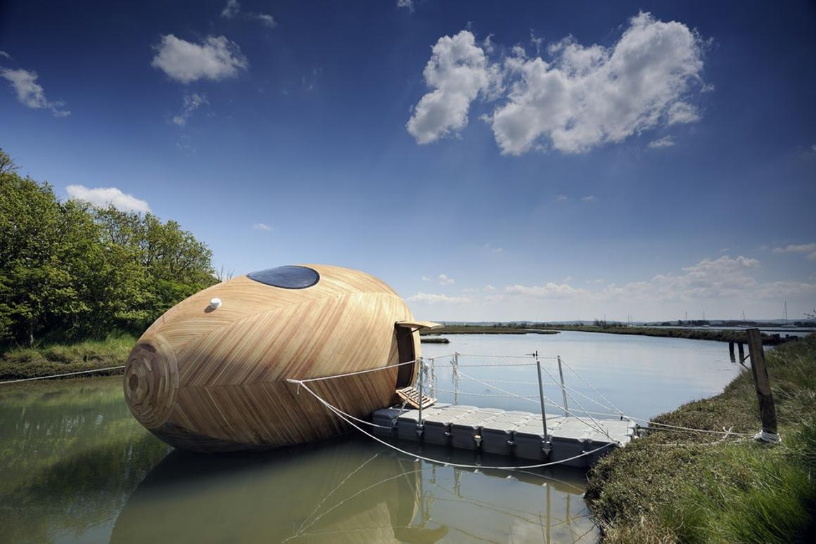 TheExbury Egg is a floating off-grid workspace and home made in the UK