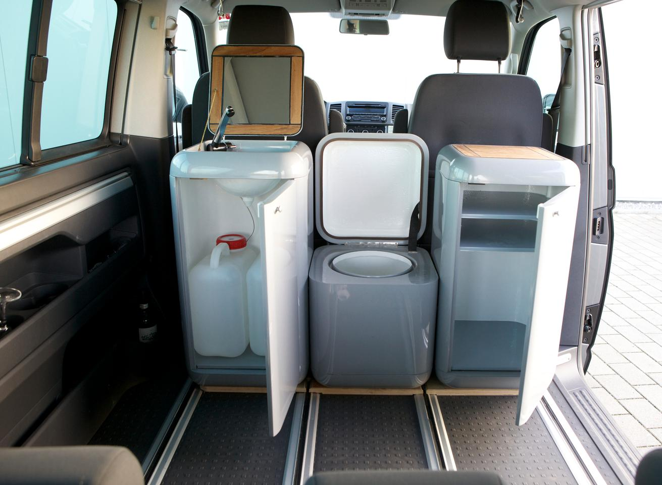 Buddy Boxes mounted inside a van