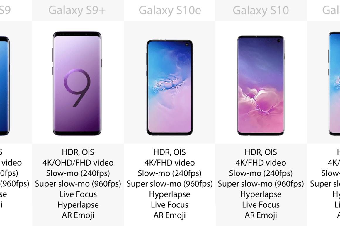 Samsung Galaxy S10e, S10 and S10+ vs  Galaxy S9 and S9+