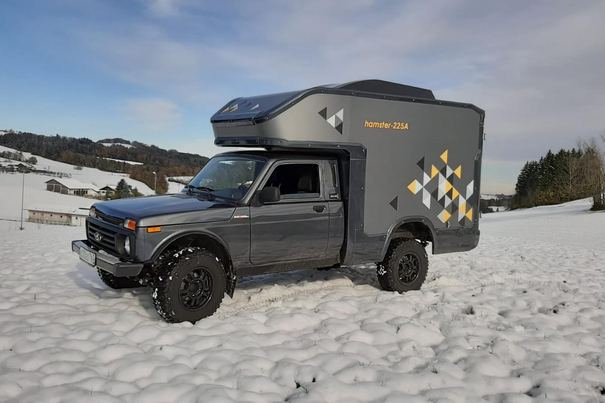 Lux Form turns the Lada Bronto 4x4 into a rugged mini-camper for two