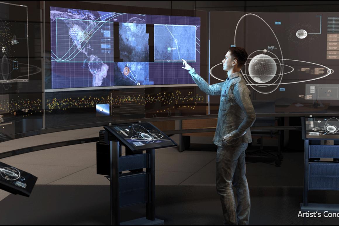 Artists impression of a next-generation orbital assetcontrol system