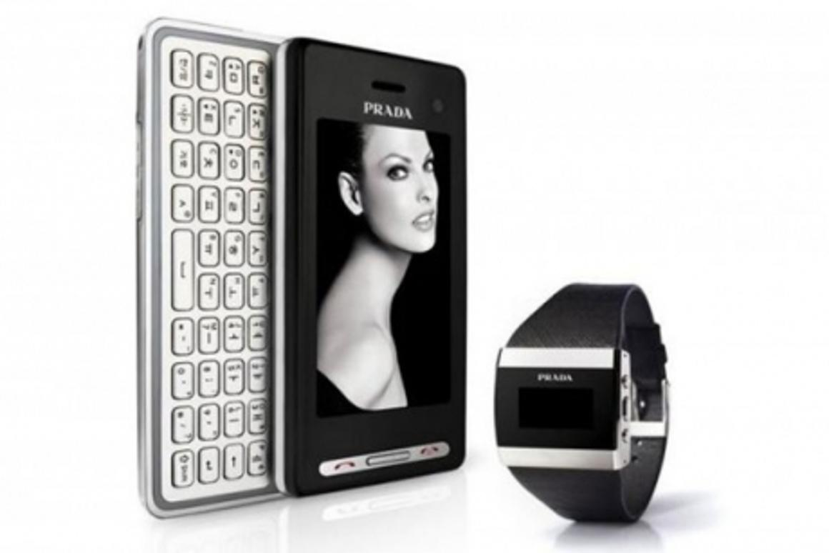 The updated Prada phone with new Prada Link watch for the fashion-conscious