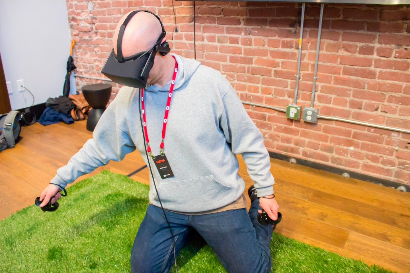 Oculus Touch controllers, demoed at GDC2016