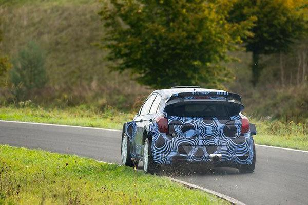 The new i20 WRC car began testing in Germany last year