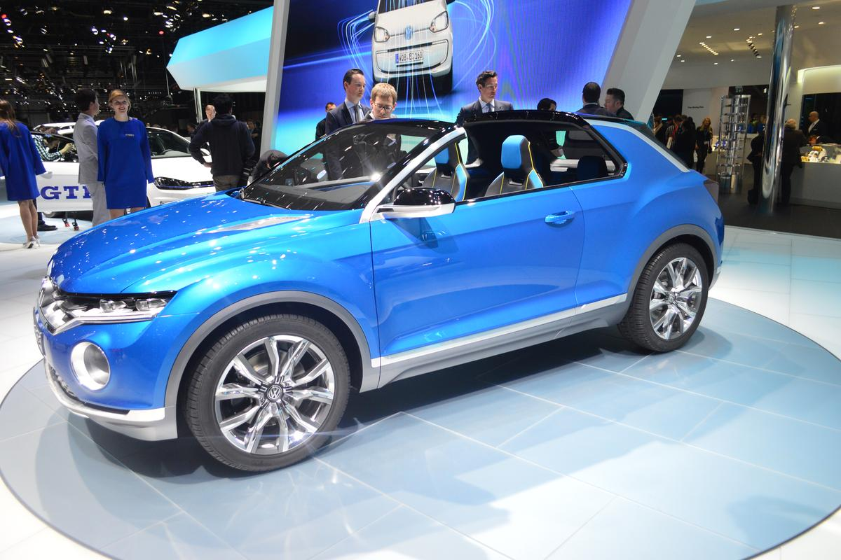Volkswagen's T-ROC concept mini-SUV, at the Geneva Motor Show