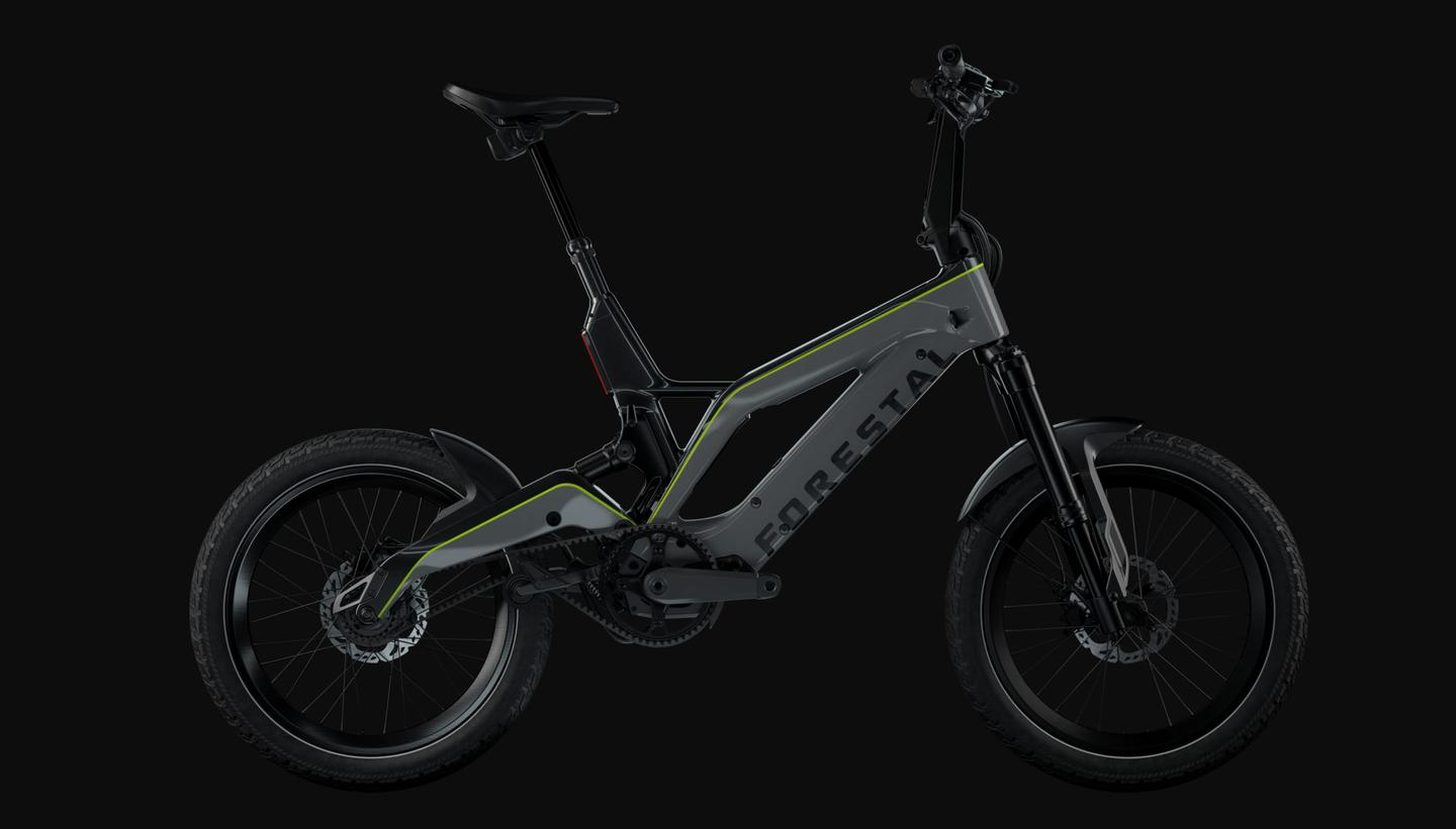 The Aryan is a foldable urban commuter - but with dual suspension and a few off-road track chops