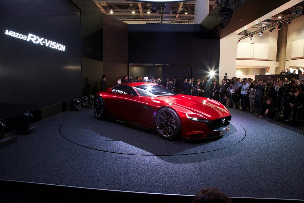The all-new RX-VISION concept at the Tokyo Motor Show