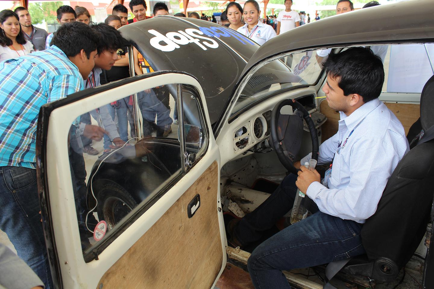 AlcoStop is demonstrated in a VW Beetle