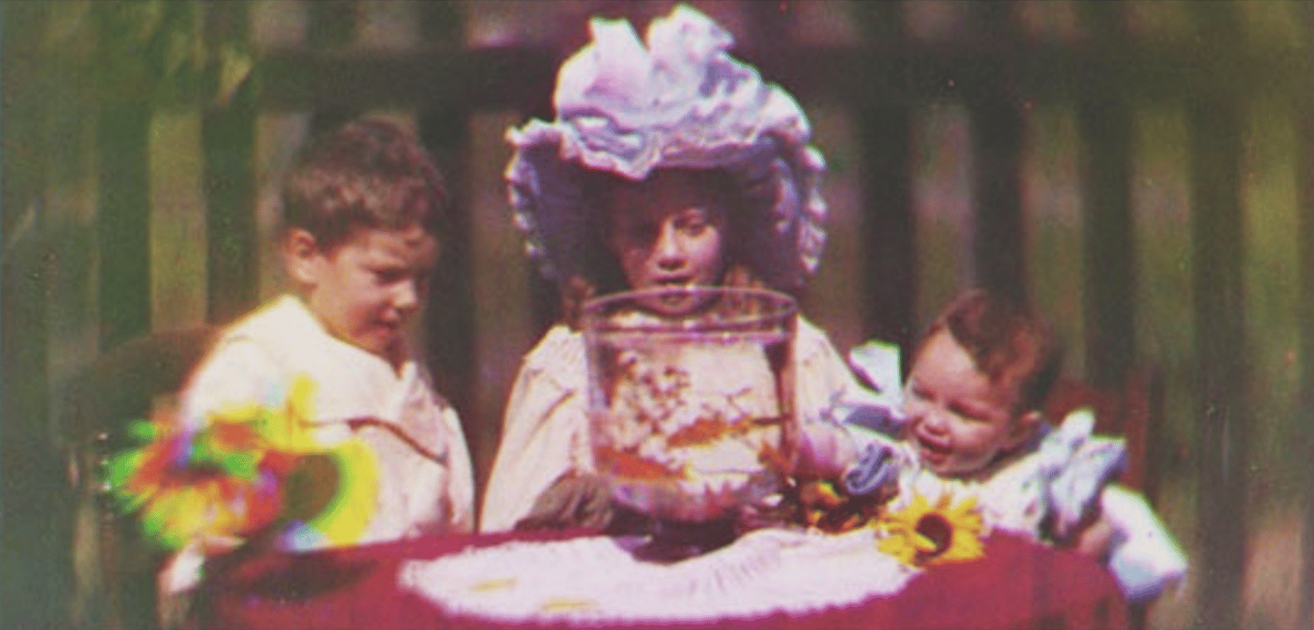 Frame from the first color motion picture (Image: National Media Museum/SSPL)