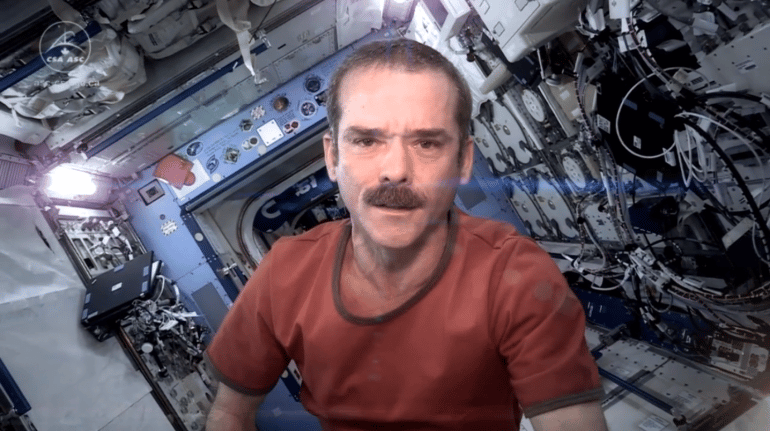 Chris Hadfield in his time aboard the ISS (Image: Canadian Space Agency)