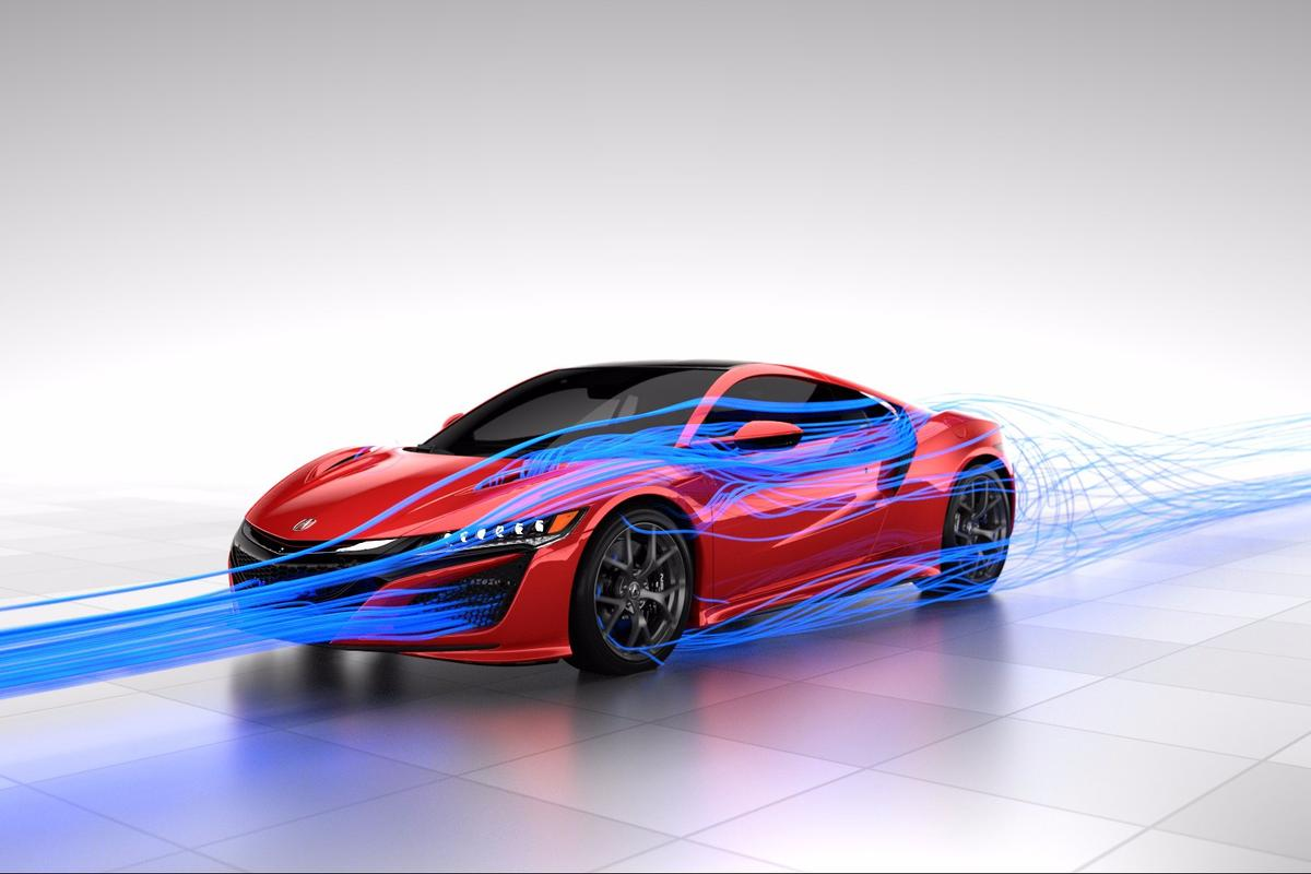 The Honda NSX has been designed to channel the air without the need for wings and spoilers