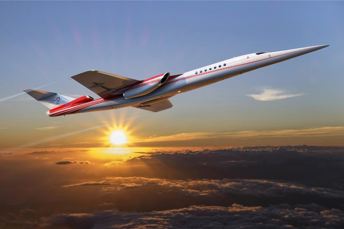 The AS2 supersonic business jet is scheduled to fly in 2023