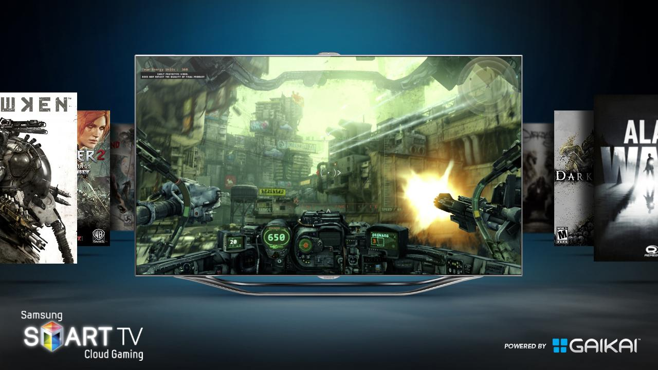 A catalog of games will be another channel on Samsung's new LED 7000 series Smart TVs
