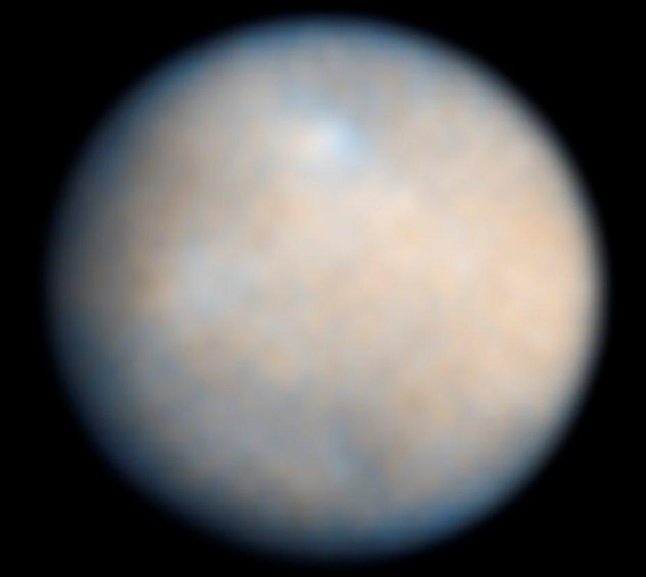 Ceres is nearly a perfect sphere in shape, and its image taken by the Hubble Space Telescope looks rather like any other small planet (Photo: NASA)